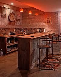 Interior Creative Design For Rustic Basement Ideas  Shelf End - Rustic basement ideas