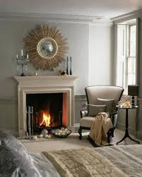 appealing wall decor next to fireplace pics inspiration