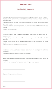 Confidentiality Agreement Samples Non Disclosure Agreement Form Confidentiality Agreement Template