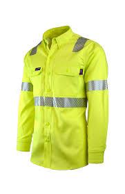 Buy 7oz Fr Hi Viz Uniform Shirts Class 2 Lapco Fr