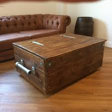 chest trunk coffee table storage box