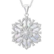 daughter diamond snowflake pendant