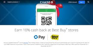chasepay 10 cashback at best purchas