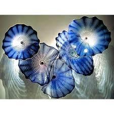 wall viz art glass sculpture chandelier plate combo by decorative bed bath beyond viz glass wall art