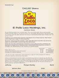 el pollo loco holdings inc mon stock we are offering shares of our mon stock this is our initial public offering and no public market curly