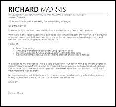 Resume Trade Marketing Manager Cover Letter Best Inspiration For