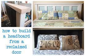 Five Panel Door Headboard Aint She Crafty How To Build A Headboard From An Old Door