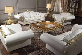 Imperial Coffee Table Imperial Classic Living Room In White Leather Vimercati Classic