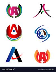 Logo Design Samples For Alphabets Letter A Logo Design Sample Icon Set