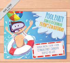 Free Pool Party Invitations Printable 40 Free Party Invitation Templates Psd Ai Vector Eps
