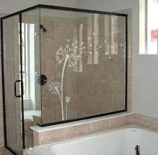 appealing bathroom shower door stickers glass door decals etched frosted glass dandelion vinyl wall by glass appealing bathroom shower door stickers