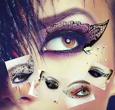 makeup face eye temporary tattoo eye liner shadow transfer eye rock sticker uk seller