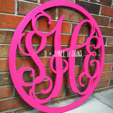 24 inch painted you pick the colors wooden monogram with circle border wooden letters wooden monogram home decor