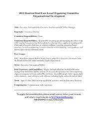Resume Executive Functional Resume