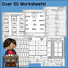 Free download diphthongs worksheet for 1st grade literacy word work: Vowel Pairs Oi Oy Worksheets And Activities For Early Readers Phoni Starlight Treasures Resources