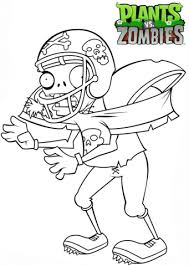 Plants Vs Zombies Football Zombie Coloring Page Free Printable