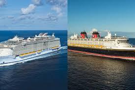 Royal Caribbean Cruise Ship Size Chart Royal Caribbean Vs Disney Cruise Line Cruise Critic