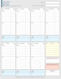Budget Planners Free Weekly Budget Planner Template Planner Template Free