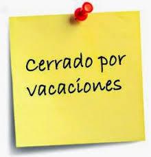 Resultado de imagen de letrero vacaciones