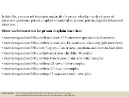 Prison Chaplain Job Top 10 Prison Chaplain Interview Questions And Answers