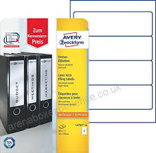 Avery Zweckform L4761 A4 Lever Arch Spine Labels 192 X 61