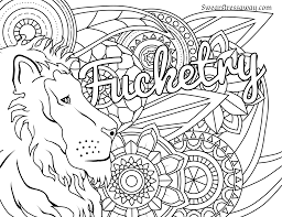Fucketry Swear Word Coloring Page Adult