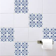 spanish tile stickers blue wall stickers