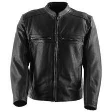 black brand fahrenheit kooltek perforated leather jacket