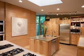 custom kitchen lighting. Stylish Light Wood Kitchen Cabinets Contemporary With In Custom Lighting N