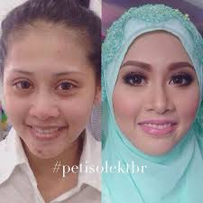 peti solek before after make up