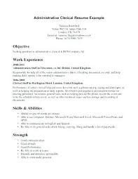 resume objective clerical how to write a resume examples lifespanlearn info