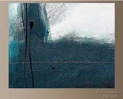 blue gray abstract wall art