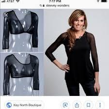 Nwt Sleevey Wonders Black Mesh Sleeves Size Xs Nwt