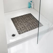 337620 square bubble bath mat grey