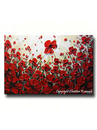original art abstract painting red poppy painting textured poppies flowers paintings fall decor on red poppy flower wall art with original art abstract painting red poppy flowers large