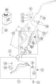 Rear brake control ktm 1190 adventure abs grey 2016 eu