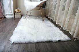 image 0 black fur carpet white gy faux rug