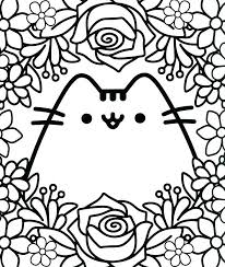 kawaii coloring pages cute cat coloring pages kawaii anime coloring pages