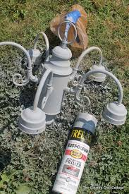 begin by spraying the entire fixture with primer meant for metal i recommend this from rustoleum