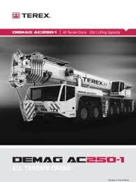 Terex Demag Ac 250 1 Specifications Cranemarket