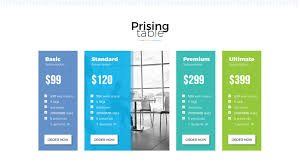 table graphic design. a #awesome pricing table presentation template | swpnobaz rubel pulse linkedin graphic design