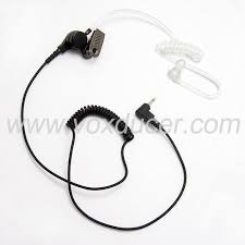 motorola walkie talkie headset. listen only receive clear earpiece earbud for walkie talkie motorola transceiver 3.5mm jack two headset o