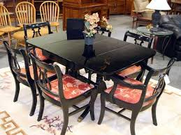 black lacquer paint for furniture. DUNCAN PHYFE CHAIRS | Duncan Phyfe Dining Table Painted Black Lacquer FURNITURE REPURPOSE . Paint For Furniture