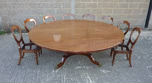 large round georgian dining table large 7ft diameter round antique regency dining table to seat up to 14 people