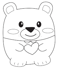 Small Picture Teddy Bear Coloring Page Stock Illustration Image 52087027