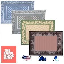 9 x reversible patio mat indoor outdoor rug camping deck cover pad 9x12 trailer 12722942html