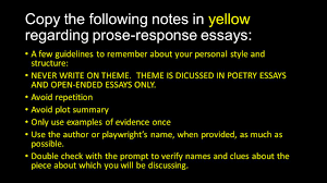 how to prose response essays copy the following notes in yellow  4 copy
