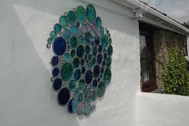 stained glass garden art stained