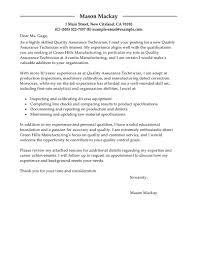 Resume Quality Assurance Administrator Cover Letter Best