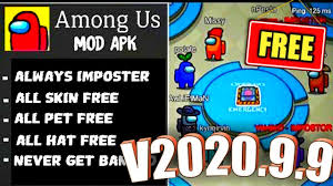 Among Us Hack: Download Among us Mod Menu Apk v2020.11.17 - No Ban, No Kill  Cool Down time, Complete kill task fast, Wall-Speed hack [All Skins, Pets,  hats Unlocked]